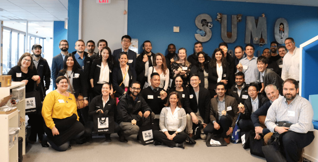 Students and staff at Sumo Logic