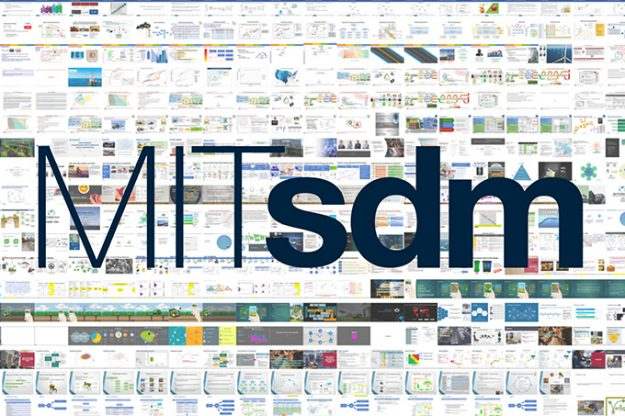 Collage of project slides with MITsdm logo superimposed